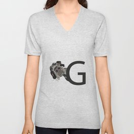G is for Great Dane Dog Unisex V-Neck