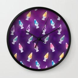 Lava Lamps Pattern Wall Clock