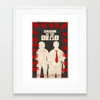 shaun of the dead Framed Art Prints featuring Shaun Of The Dead by Bill Pyle