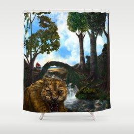 The Jaguar Guardian Shower Curtain