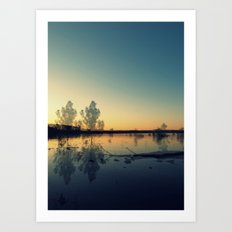 We Met in the Stillness of Twilight Art Print