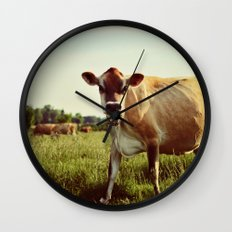 jersey cow Wall Clock