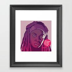 THE WALKING DEAD - Michonne Framed Art Print