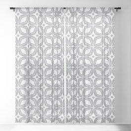 Starburst - Grey Sheer Curtain