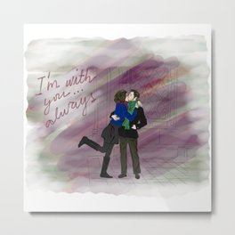 "Regina & Robin - Outlaw Queen ""I'm With You, Always"" Metal Print"