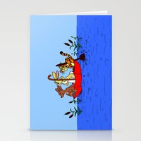 tigger Stationery Cards featuring Floating umbrella by BlackBlizzard