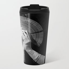The white folding fan Metal Travel Mug