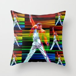 Freddie in Color Throw Pillow