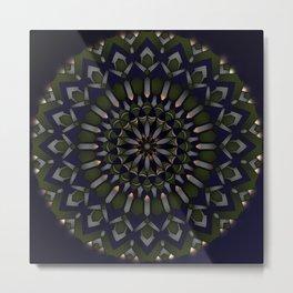 Mother Nature Mandala Metal Print