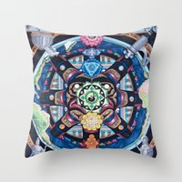 chakra Throw Pillows featuring Earth Chakra by The Art of Eric Carson