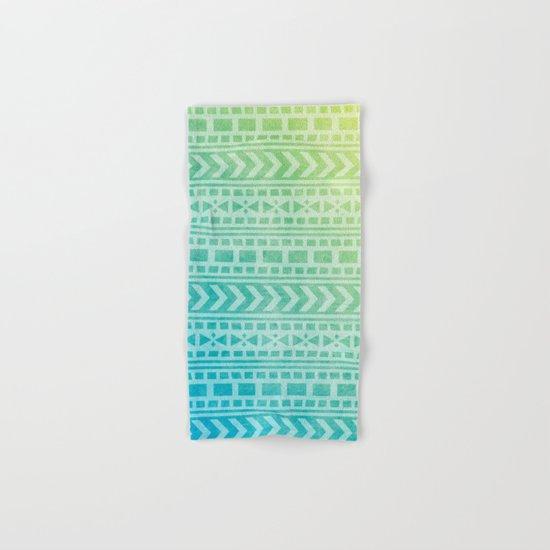 Aztec Pattern 07 Hand & Bath Towel