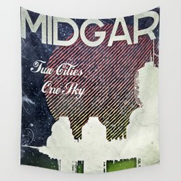 Final Fantasy VII - Midgar Tribute Poster *Distressed* Wall Tapestry