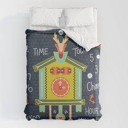 Tic Tock Cuckoo Clock Duvet Cover