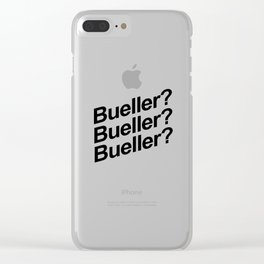 Bueller? Clear iPhone Case