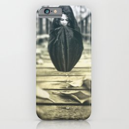 Scary Girl In Hood iPhone Case