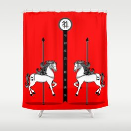 Chinese New Year of the Horse Shower Curtain