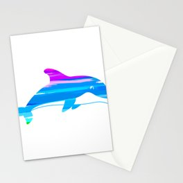 Unique Dolphin Illustration Stationery Cards