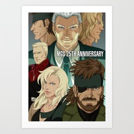 MGS 25TH ANNIVERSARY Art Print
