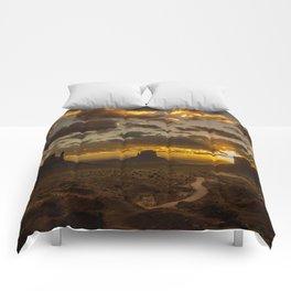Monument Valley - Vivid Sunrise Comforters