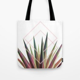 Tropical Desire - Foliage and geometry Tote Bag