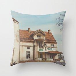 Hostel Throw Pillow