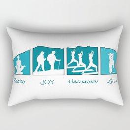 Peace Joy Harmony Love Rectangular Pillow