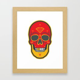 Skull Diamond Framed Art Print