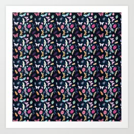 Insect repeat pattern Art Print