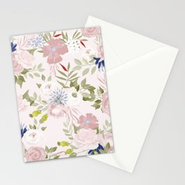 Watercolour Flower Pattern Stationery Cards