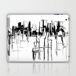Black and White Cityscape Laptop & iPad Skin