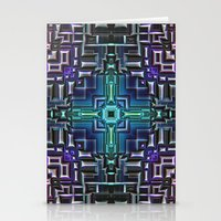 sci fi Stationery Cards featuring Sci Fi Metallic Shell by Phil Perkins