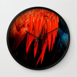 Red Saddle Wall Clock