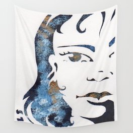 BLUE GIRL Wall Tapestry