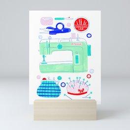 Sewing Machine & Crafting Supplies Mini Art Print