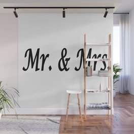 Mr. & Mrs. Wall Mural