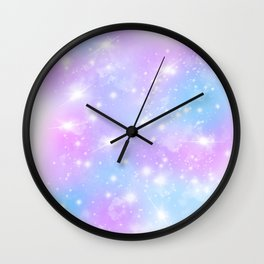 Pastel Galaxy Wall Clock