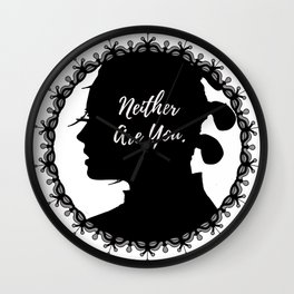 Neither Are You - Rey (framed) Wall Clock