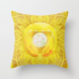 Gold In My Belly (Solar Plexus Chakra) Throw Pillow