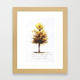 Trust Your Instincts Framed Art Print