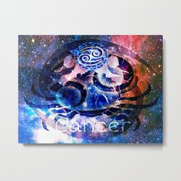 Astrology Cancer Sign Metal Print