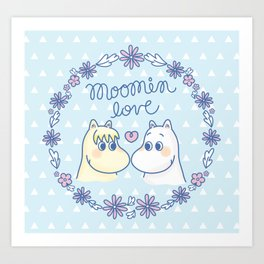 Moomin Love Sky Blue Art Print