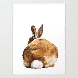 Rabbit Butt Art Print