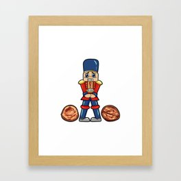 Nutcracker Christmas gift present Hazelnut Framed Art Print