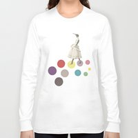lady Long Sleeve T-shirts featuring Bird Lady by Cassia Beck