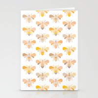 bees Stationery Cards featuring Bees by Heleen van Buul