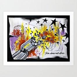 Turn Scars To Stars... Art Print