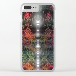Tree Waves Clear iPhone Case