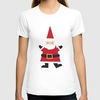 santa T-shirts featuring Santa by Claire Lordon