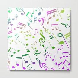 Musical Notes 16 Metal Print