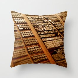 Art in Letterpress Throw Pillow